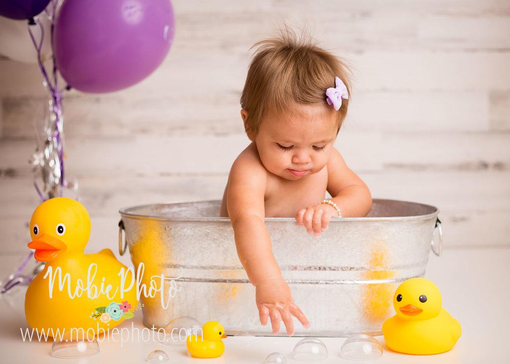 Mobie Photo - Utah Newborn Photographer - First Birthday Cake Smash Pictures