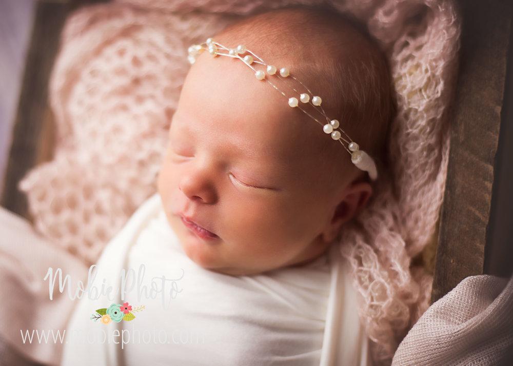 Newborn Girl Photo Shoot at Mobie Photo - Utah Newborn Photography