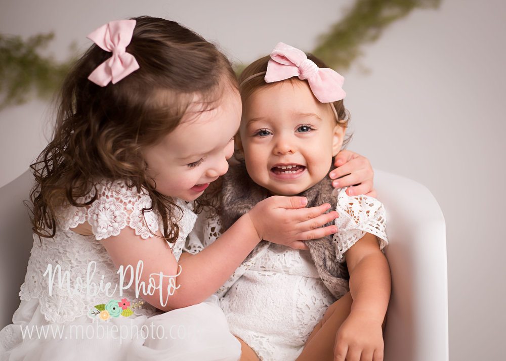 First Birthday/Sister Photo Session - Mobie Photo - Lehi, Utah