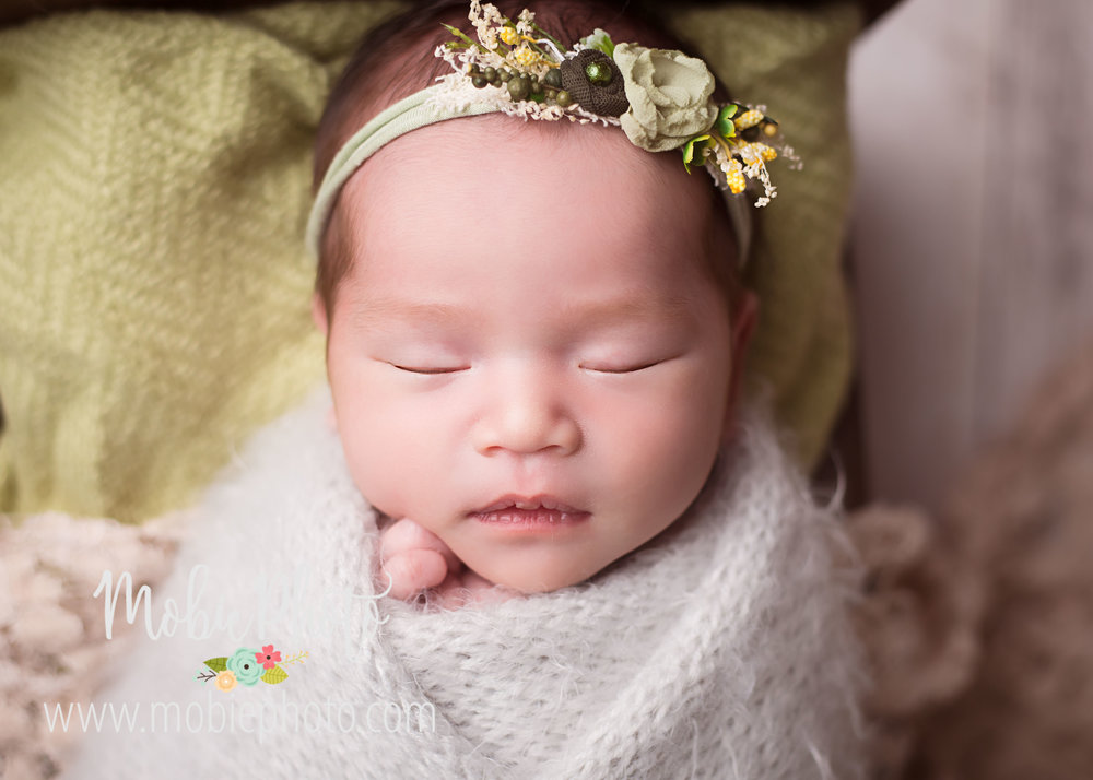 Newborn Baby J at 12 Days Old - Mobie Photo - Lehi, Utah