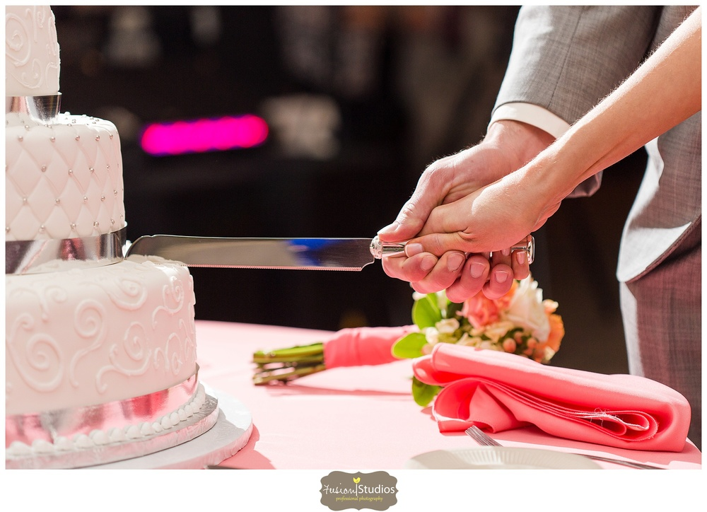 Youre Ready To Cut With Your Hands Together On The Knife Two Cuts Forming An Upside Down V Or A Typical Looking Triangular Slice Of Cake
