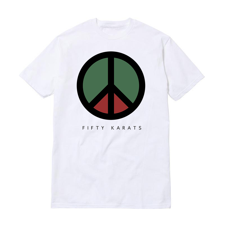 Fifty Karats Peace t-shirt.
