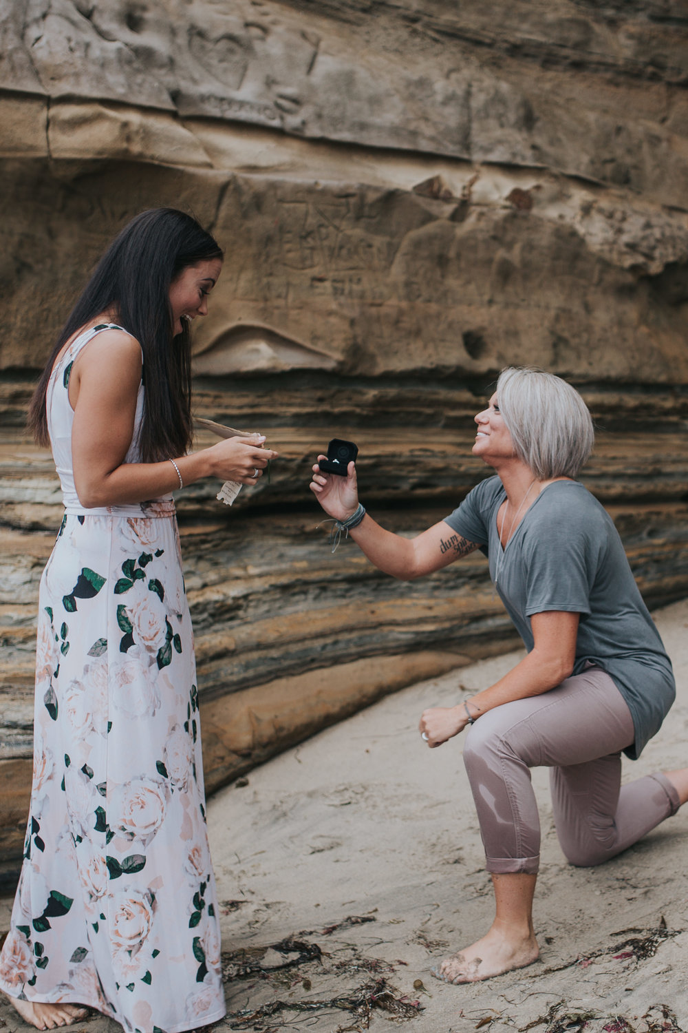 "A Ring & A ""Yes"" // Sunset Cliffs, San Diego, CA"