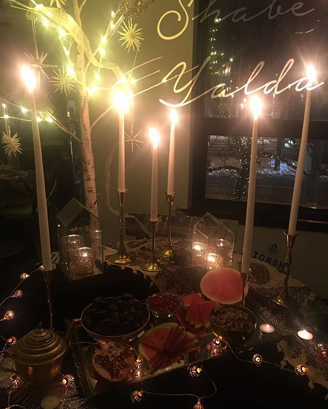 Shabe Yalda Mubarak! Celebrating this beautiful time of the year with loved ones #wintersolstice