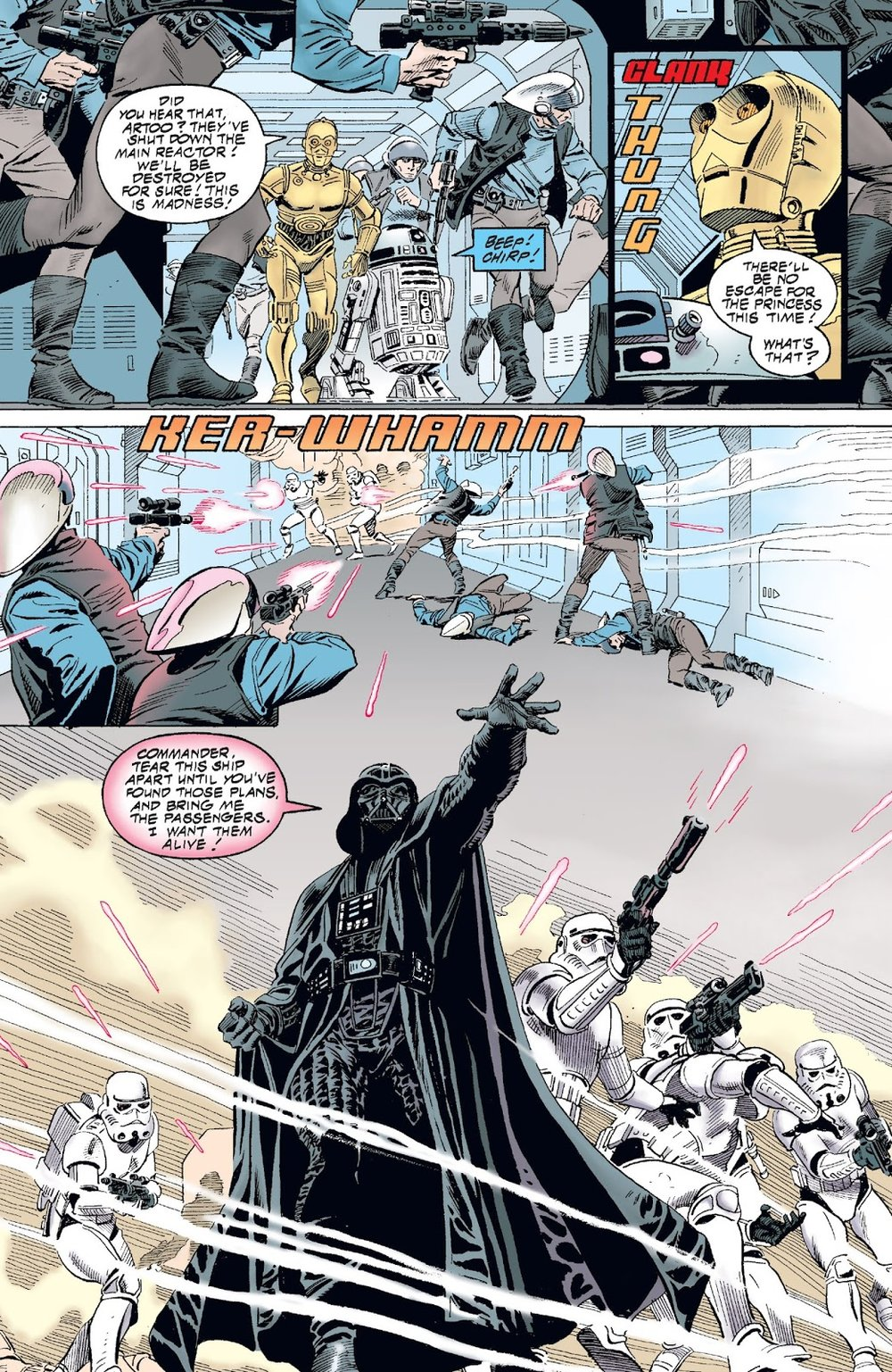 Art by    Eduardo Barreto   , STAR WARS: A NEW HOPE #1 (Dark Horse Comics)