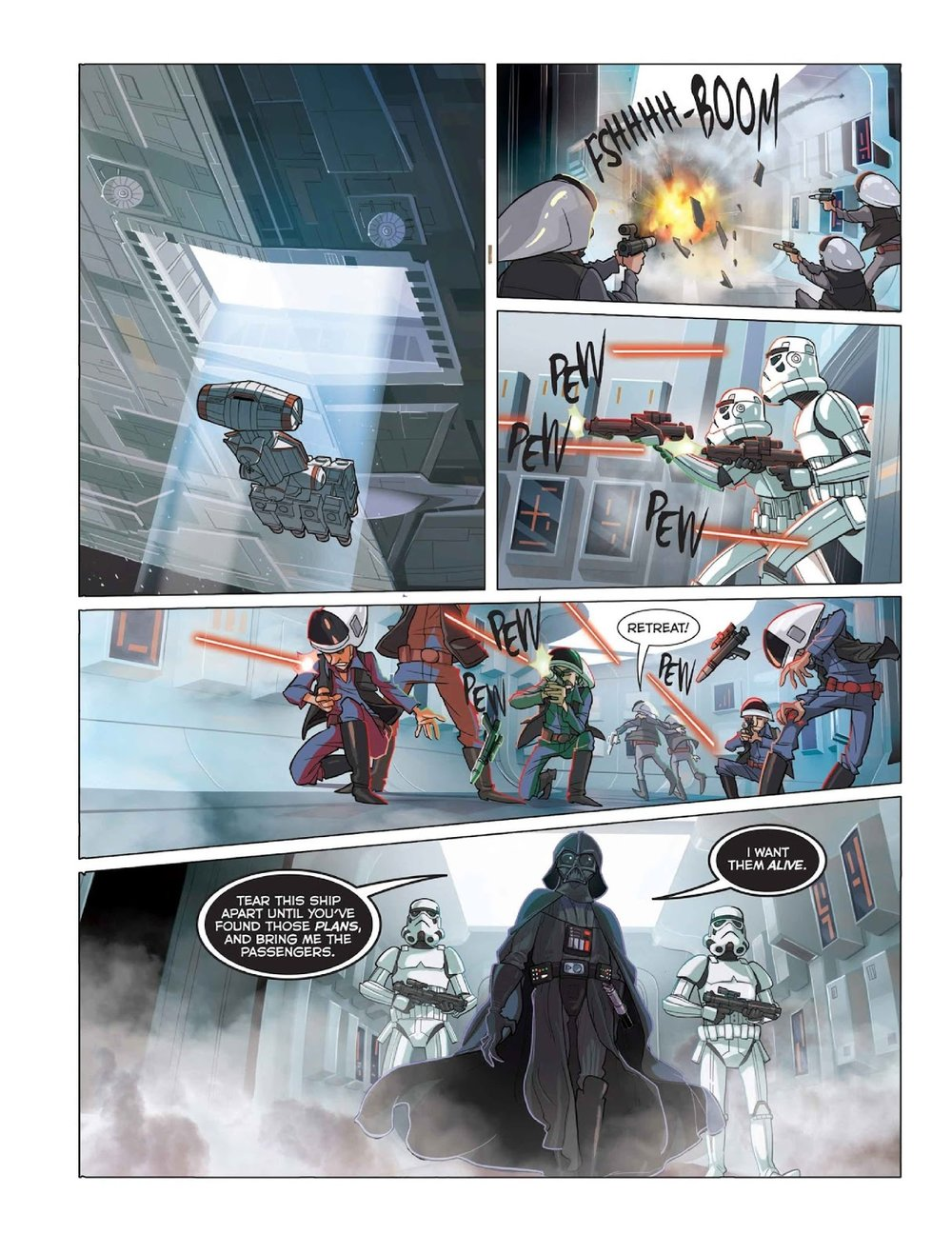 Art by    Alessandro Ferrari    , STAR WARS: THE ORIGINAL TRILOGY OGN (Disney/IDW)