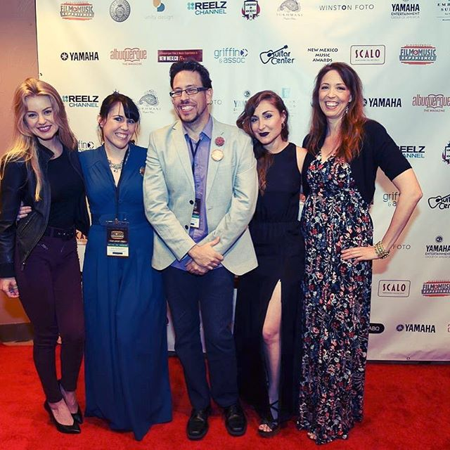 Four Maids and director Phillip Hughes at the World Premiere of The Merry Maids of Madness. @abqfilmx @sarah.minnich @rhroncich @thejenndaugherty @rebarbara06 @the_phillip_hughes #gomaids