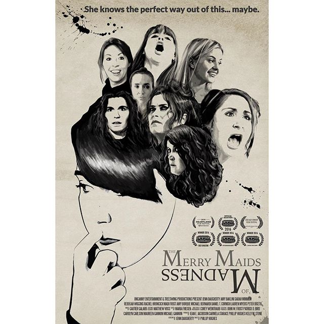 Don't miss the new comedy, The Merry Maids of Madness, at the 25th anniversary celebration of the Heartland Film Festival. Winner of AFME 2016 Audience Choice, Best New Mexico Film and Best Director Awards. Screening at the AMC Trader's Point Theater (October 21st and 22nd) and at the AMC Castleton Square Theater (October 24th and 29th). Cast and director Q@A on the 29th. • • • #heartlandfilmfestival #heartland25 #indiefilm #setlife #onset #movieposter #womeninfilm #comedy #uncannyentertainment #gomaids