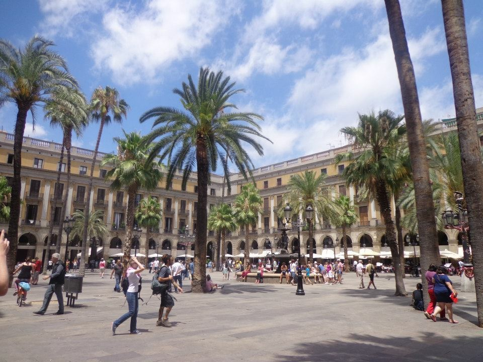 Barcelona- where palm trees are found in the city and sangria is sipped on at all hours of the day