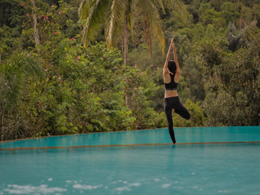 Day Six: Yoga with the sounds and sights of the surrounding jungle.