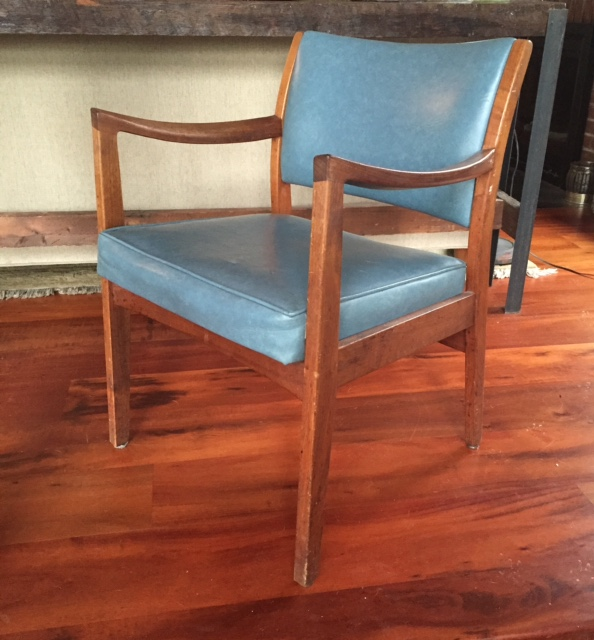 SOLD Mid Century Danish Style Armchairs From Johnson Chair Co. Chicago