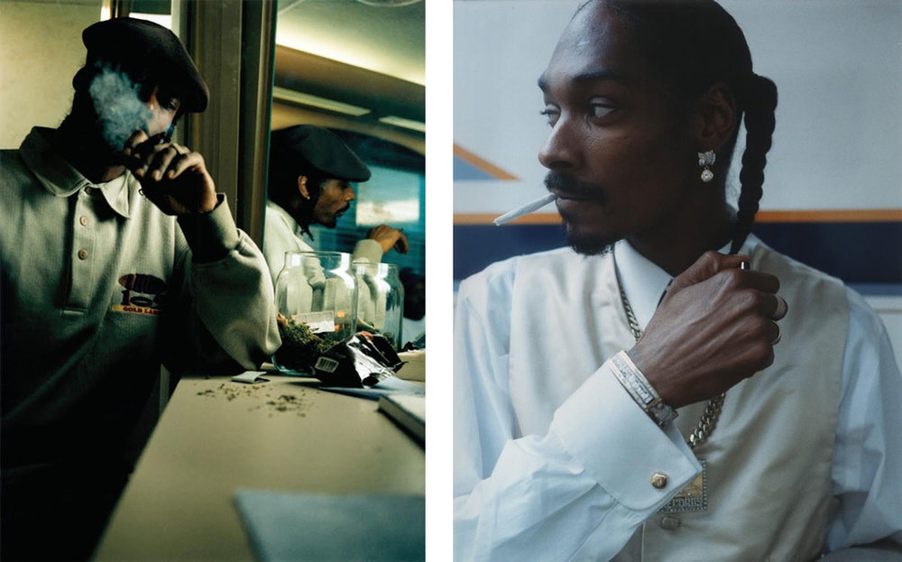 "Left: Brian ""B+"" Cross, Snoop Dogg, Los Angeles, 1997; Right: Brian ""B+"" Cross, Snoop Dogg, Los Angeles, 1997. Images courtesy of the artist."