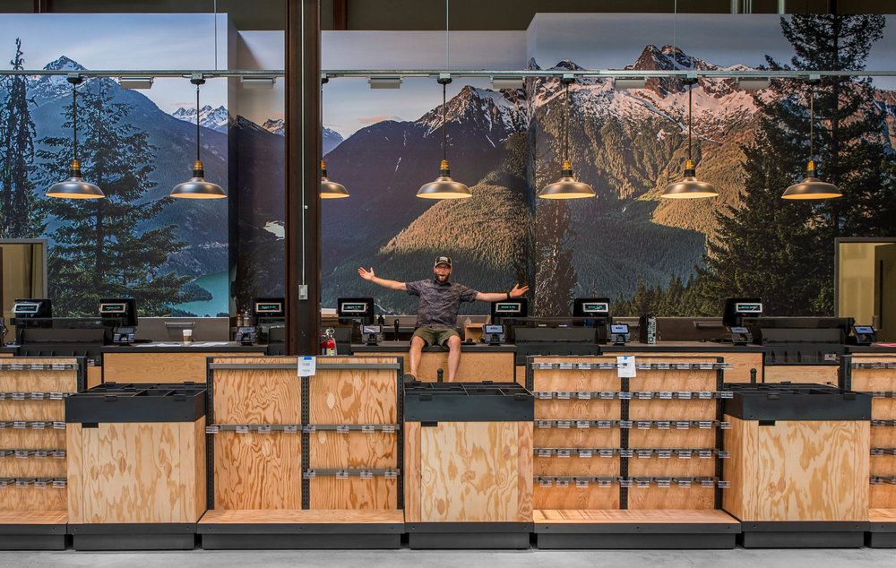 REI In-Store Murals  | Installations in Progress   During my time working at REI HQ I photographed a total of 9 large panoramas to be used in new or relocated REI stores. Each image is comprised of 12-16 high-res images which are combined in post to create one heck of a large file! I plan on visiting all of the stores in person over time and will post new installation photos as I do.