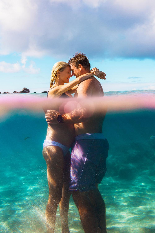 Underwater maternity. Oahu, Hawaii. New Wave Photography. Final.jpg