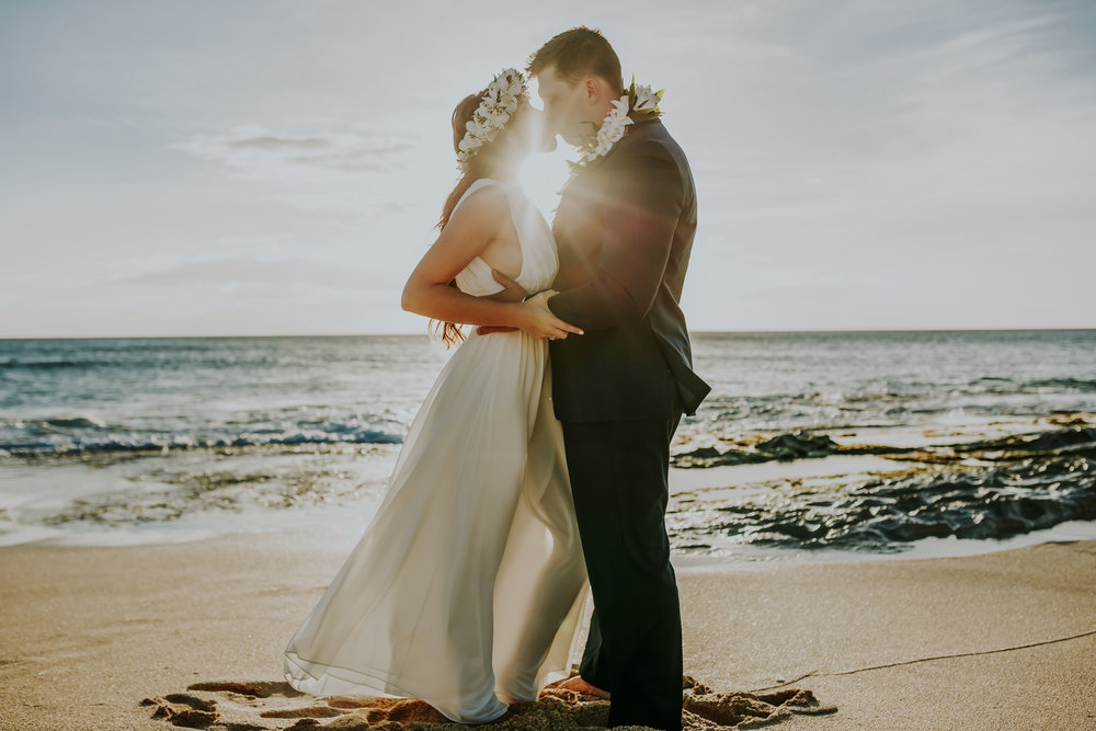 Sam + Caleb Mā'Ili Beach Wedding -