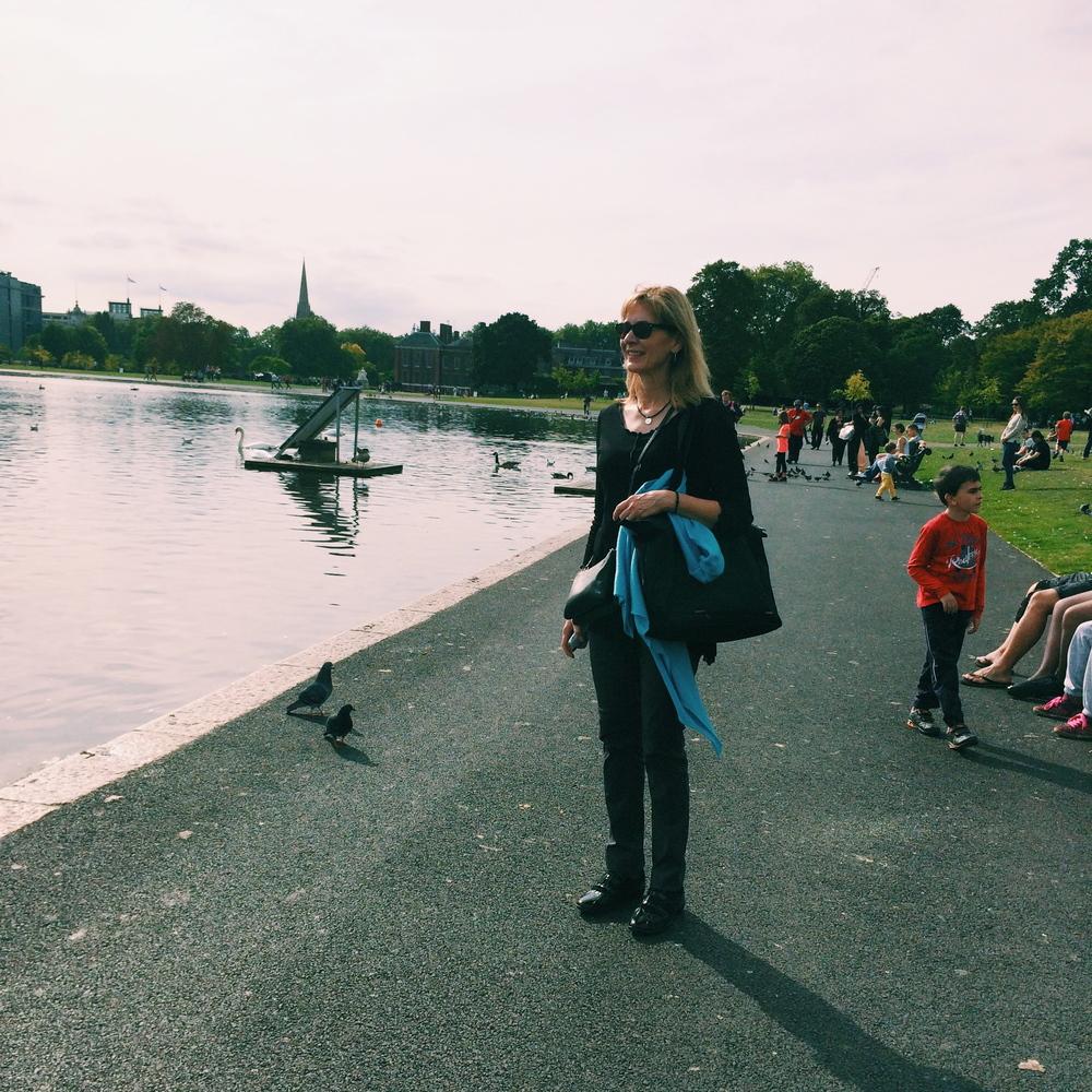 Round Lake in Kensington Gardens.