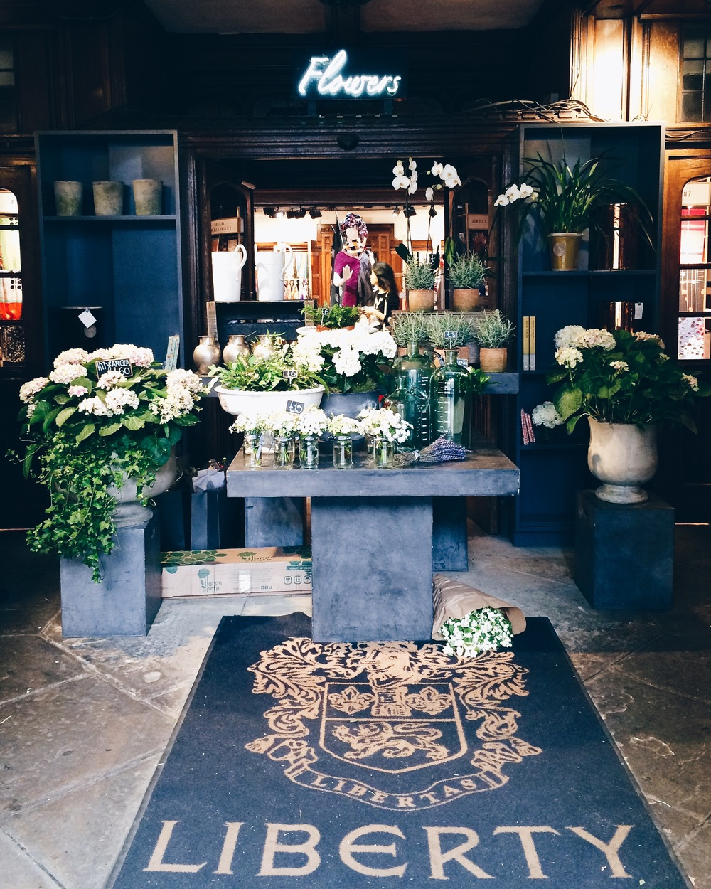 My favorite portion of Liberty: the flower shop.