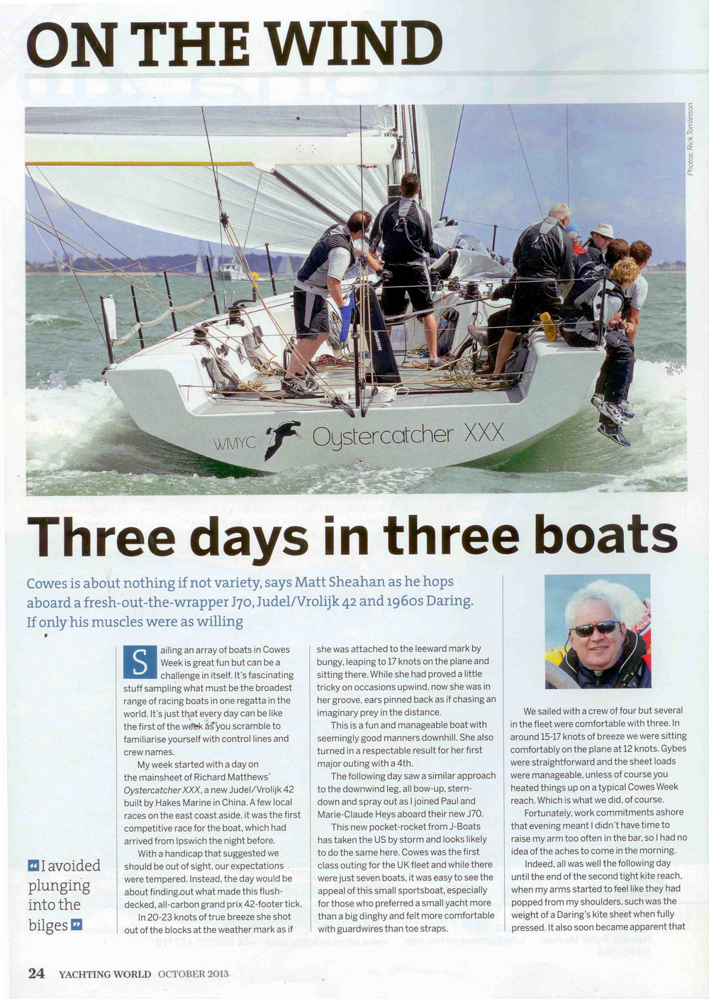Yachting World Oct 2013 Oystercatcher XXX