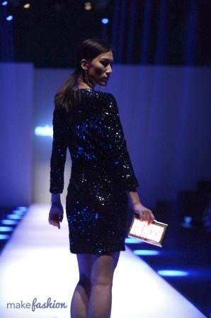 Shooting Star Dress & Fractals Clutch (back)   Xiamen Fashion Week 2015, China