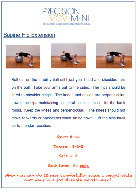 Precision Movement exercises for cyclists with back pain