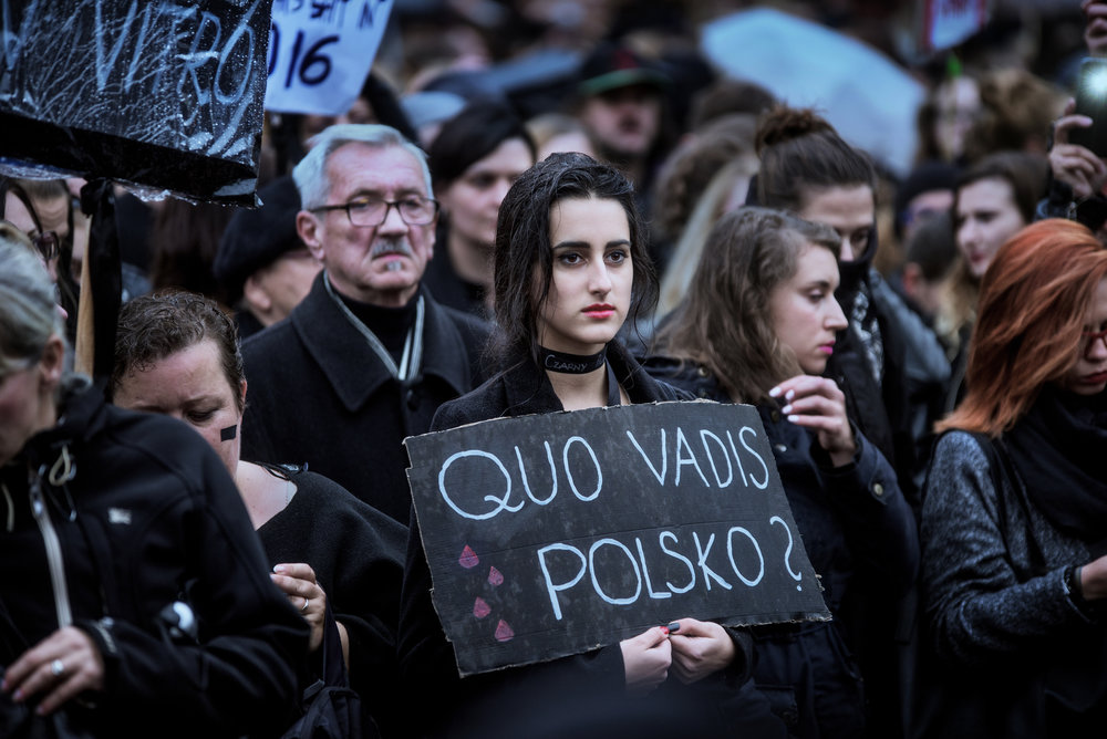 Black protest in Poland 2017