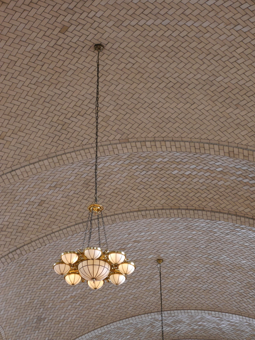 The roof and chandeliers in the registry room were really cool.
