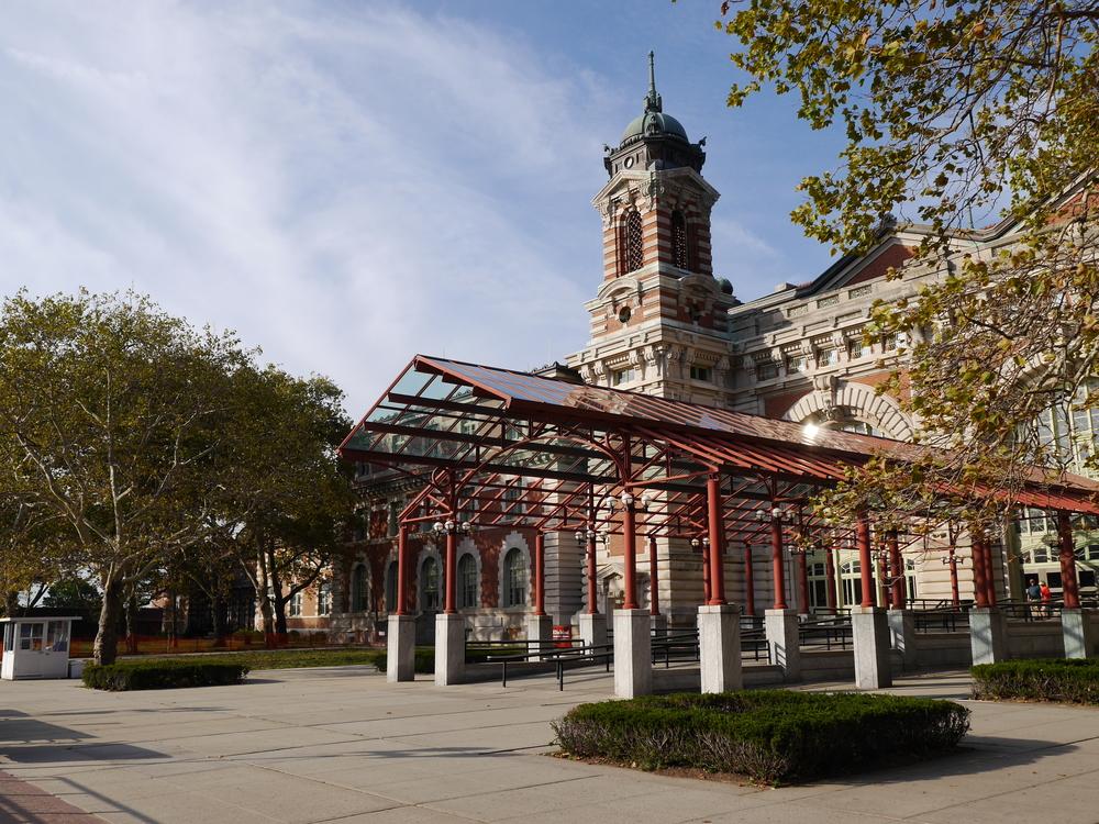 The gorgeous main building on Ellis Island.