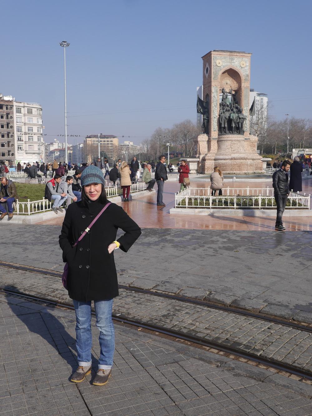 Grace in Taksim Square.