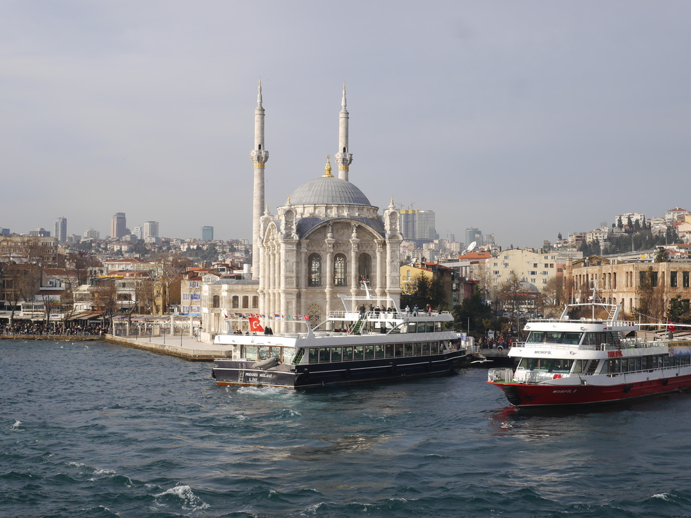 Another view of the Ortakoy Mosque.
