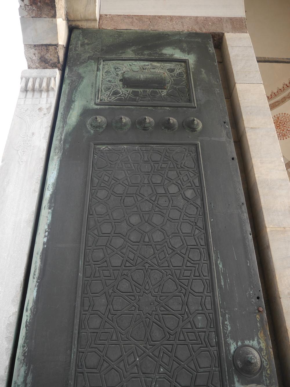 A door in the courtyard.