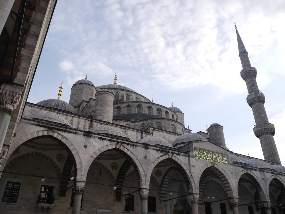 Another view of the Blue Mosque.