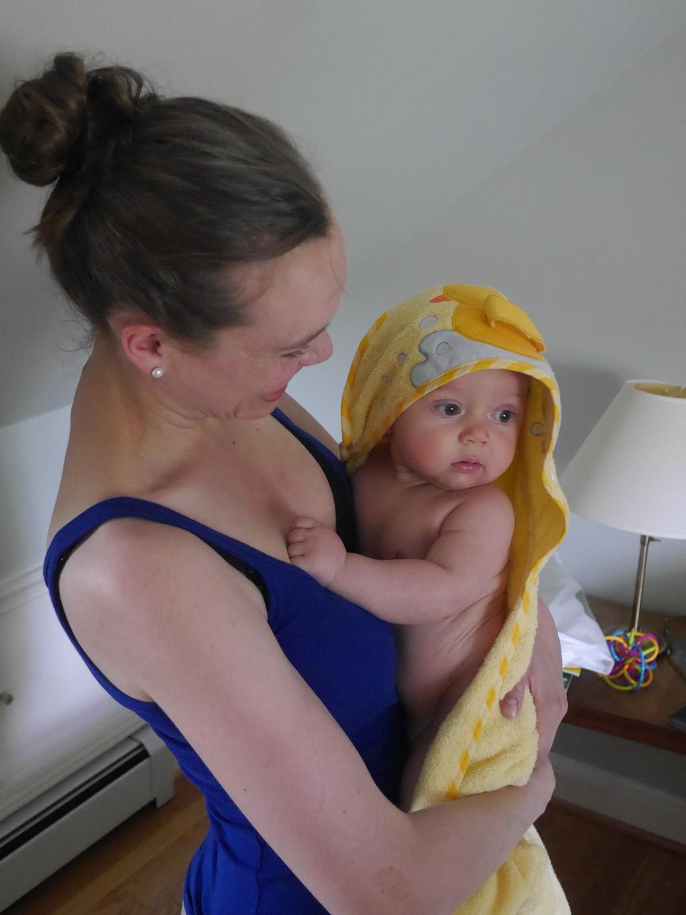 Gabriel in his post-bath pre-shoot dressing gown.