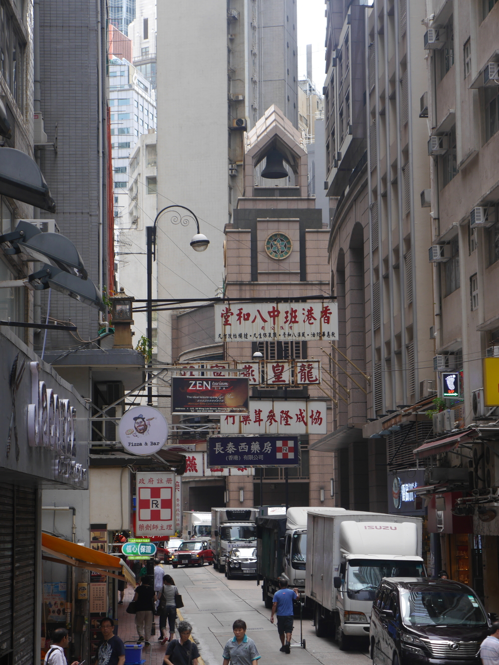 Sheung Wan in the morning.