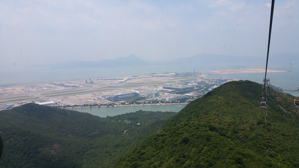 Hong Kong International from above.