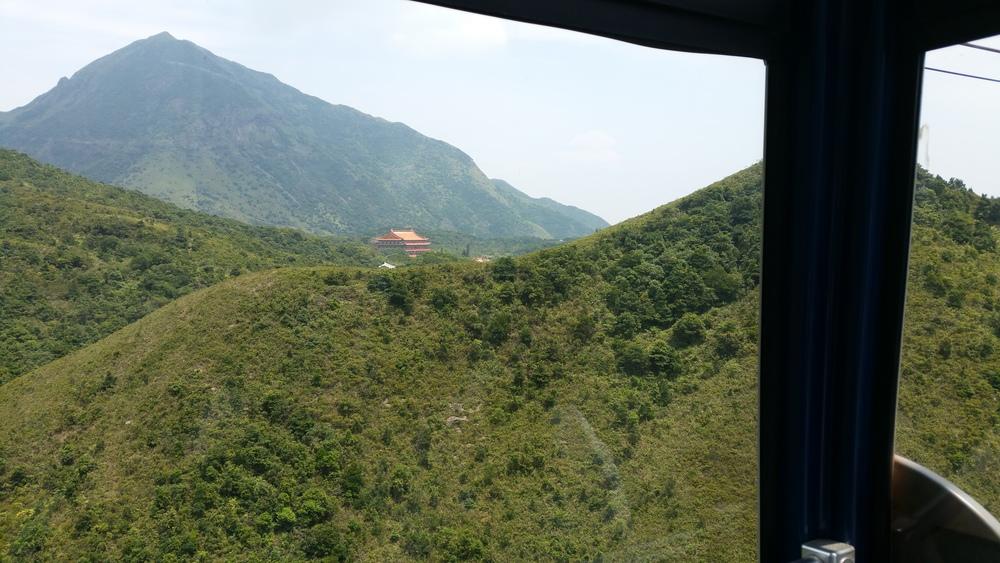 Sighting the monastery.