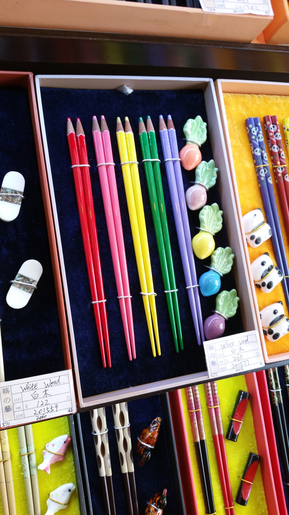 They had a store with dozens of different crazy chopsticks, including these.