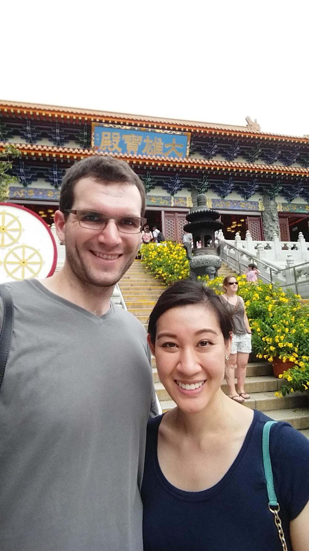 Monastery selfie.