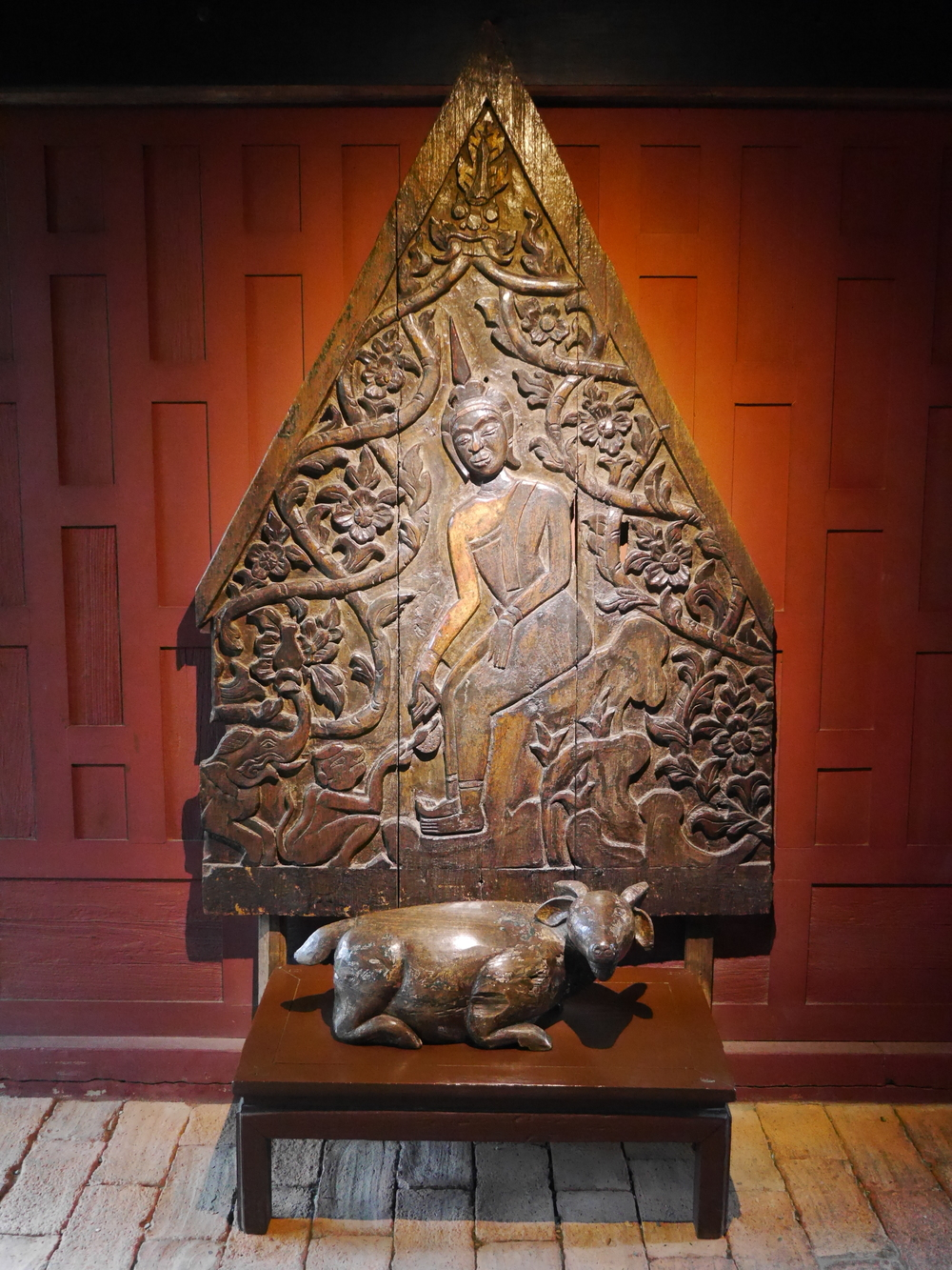 Wood carving.