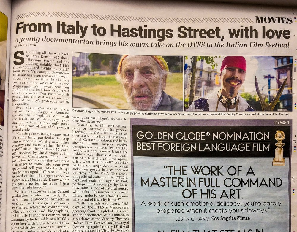 """From Italy to Hastings Street, with Love"" -"