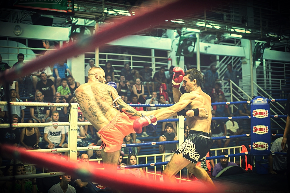 The body kick is one of the main weapons in Muay Thai.  Fightworx instructor Kris Barras lands a big one on his Russian opponent in Phuket, Thailand