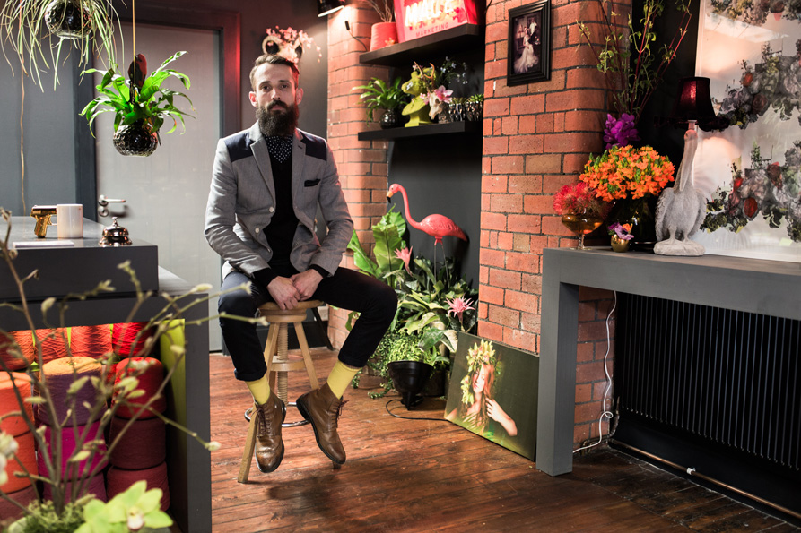 <b>David Jayet-Laraffe</b><br>Co-Owner of Frog Floral Artistry