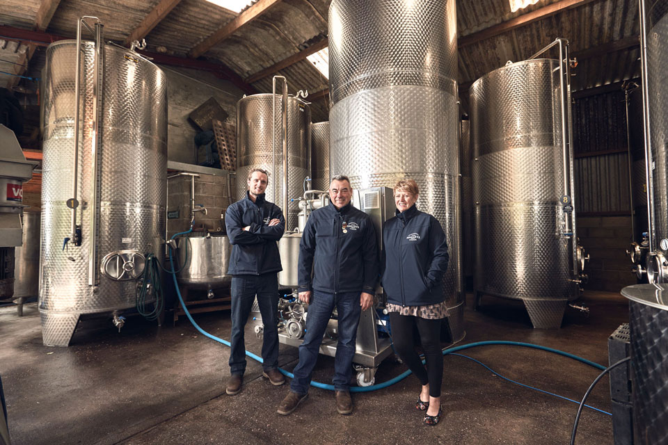 <b>Annie, Andy & Andrew</b><br>Hallets Cider