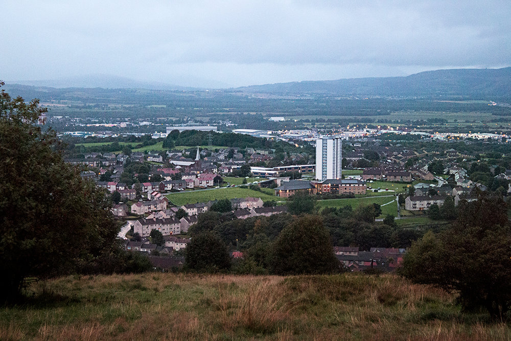Paisley as seen from the Braes