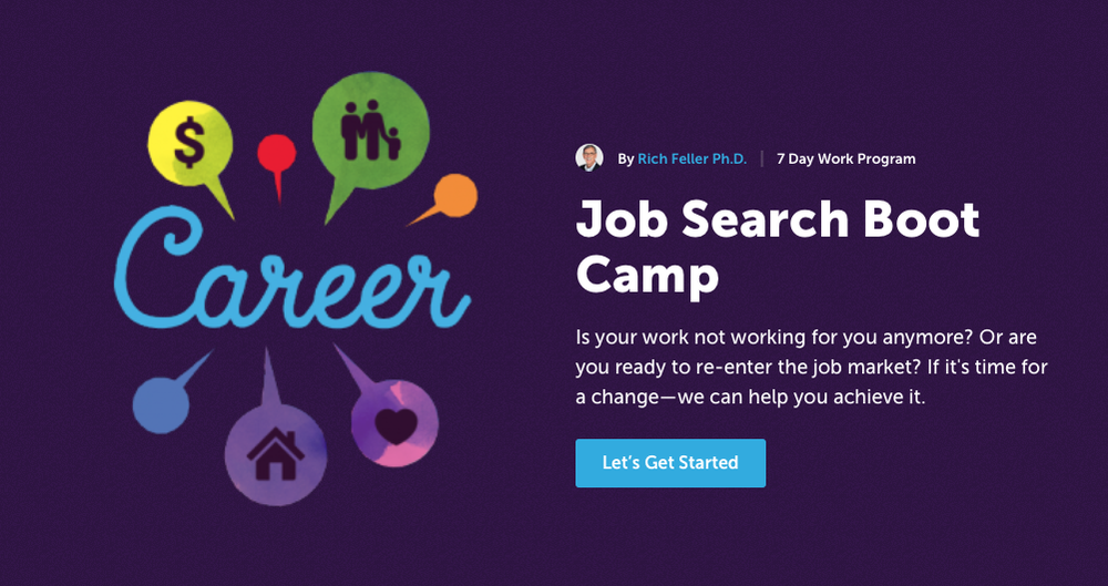 Job Search Boot Camp - One of many free programs within the Life Reimagined program.