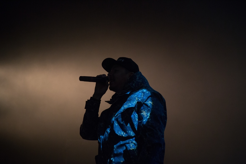 Rapper performing live