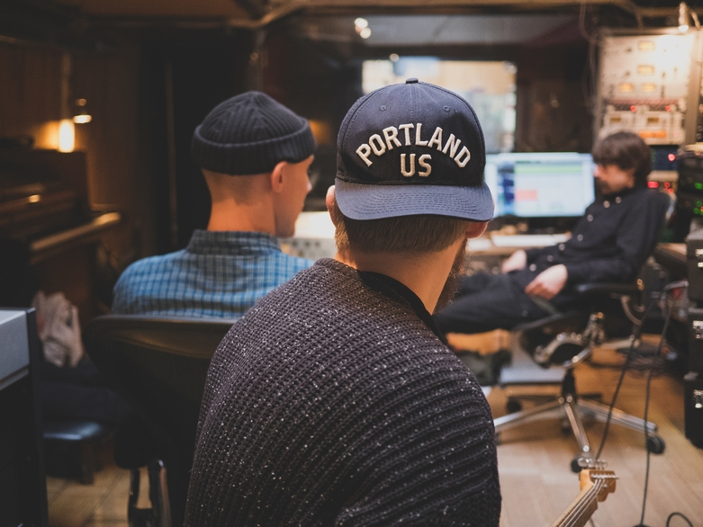 Band in studio