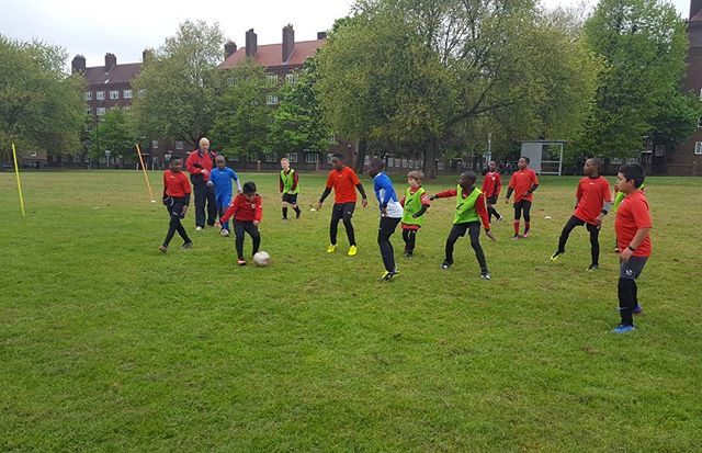 Under 10's training on  Saturday morning 22.04.17