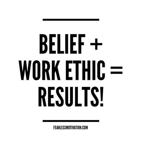 Work hard for what you believe in and you will see the results!