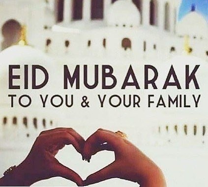 Eid Mubarak to all our Muslim friends.