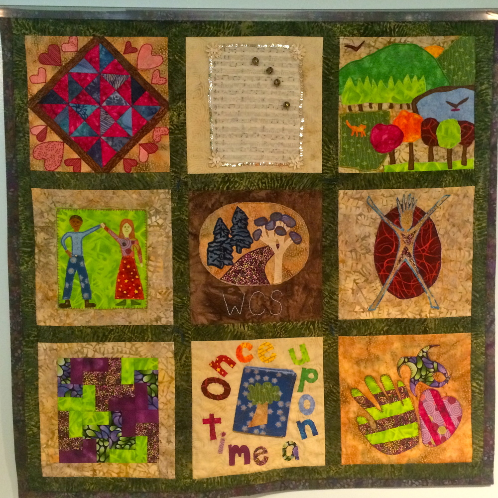 Quilt representing Gardner's Eight Intelligences made by Woodland families